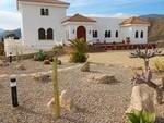 Front of villa with cactus garden