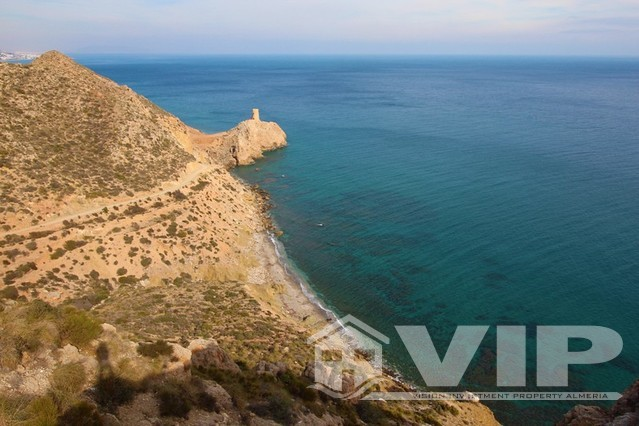 Views from villa to the 18th century watch tower on Macenas beach