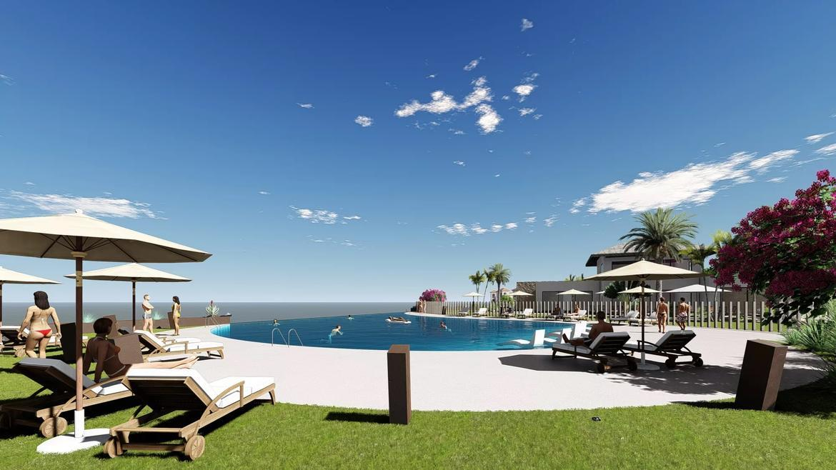 Small Oasis Render Exterior Club House Pool 2