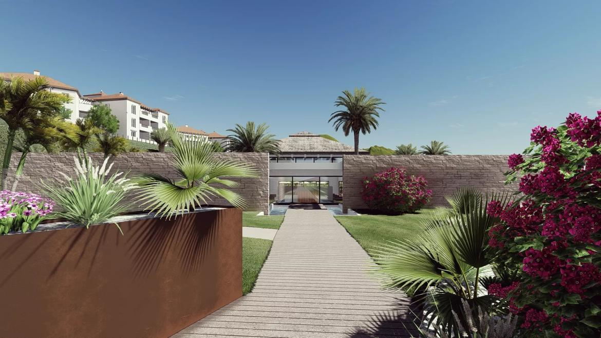 Small Oasis Render Exterior Club House Entrance